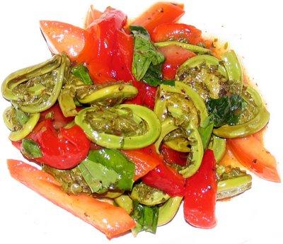 Fiddlehead Greens Salad
