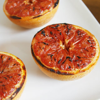 Broiled Grapefruits with Honey and Coconut Sugar