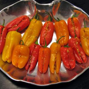 Feta and Herb Stuffed Mini Sweet Peppers Recipe