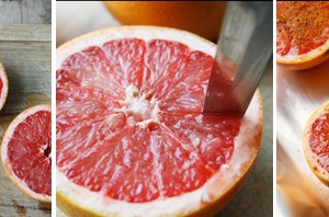 Broiled Grapefruit with Honey and Coconut Sugar