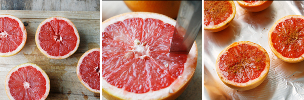 Making Broiled Grapefruits with Honey and Coconut Sugar