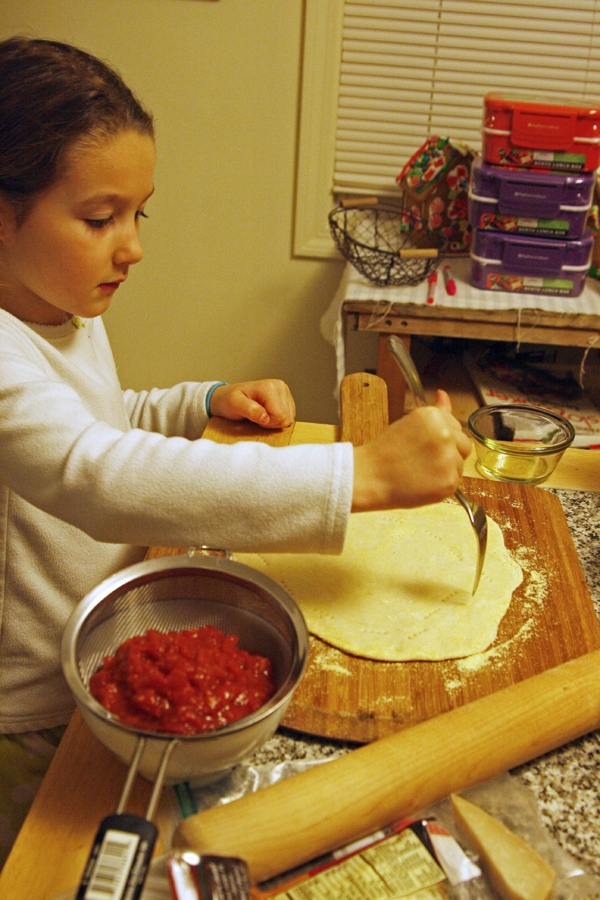 Making Homemade Pizza
