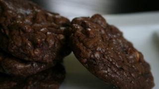 Salted Triple Chocolate Brownie Cookies