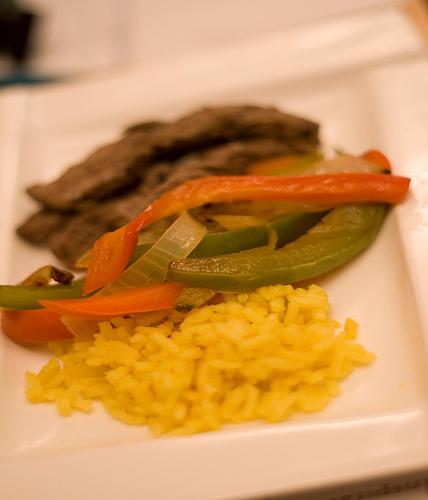 Fajita Beef and Vegetables over Rice