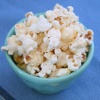 Cheesy Garlic Popcorn
