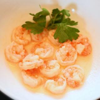 Shrimp in White Wine and Garlic Sauce