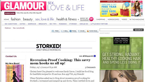 I'm Guest Posting on Glamour Today!