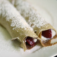 Strawberries and Cream Whole Wheat Crepes