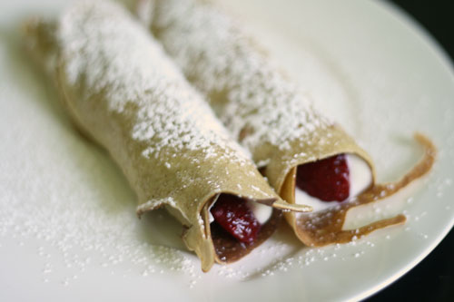 Strawberries and Cream Whole Wheat Crepes recipe