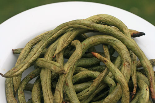 Grilled Pole Beans