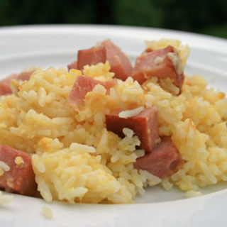 Ham and Cheese Fried Rice