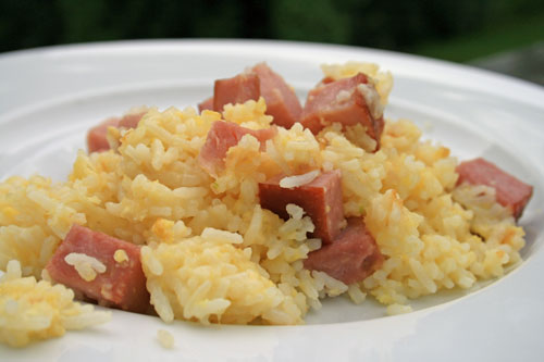 Ham and Cheese Fried Rice Recipe