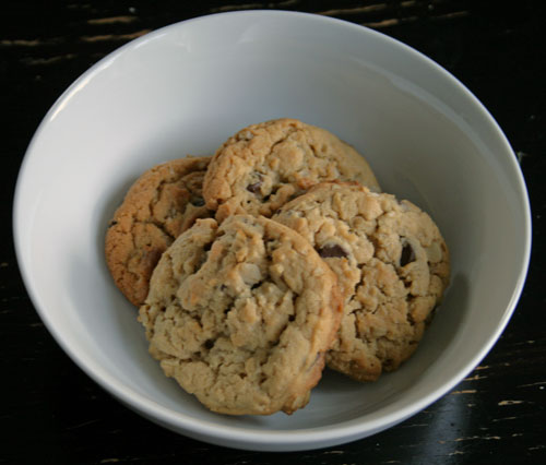 Peanut Butter Chocolate Oatmeal Cookies