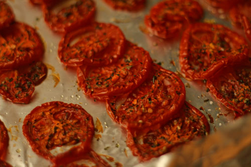 Slow-Roasted Plum Tomatoes