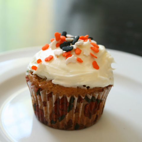 Pumpkin Cupcakes with Dreamy Cream Cheese Frosting