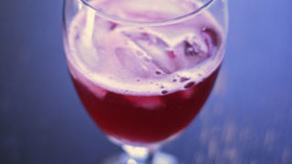 Simple Pomegranate Spritzer For One