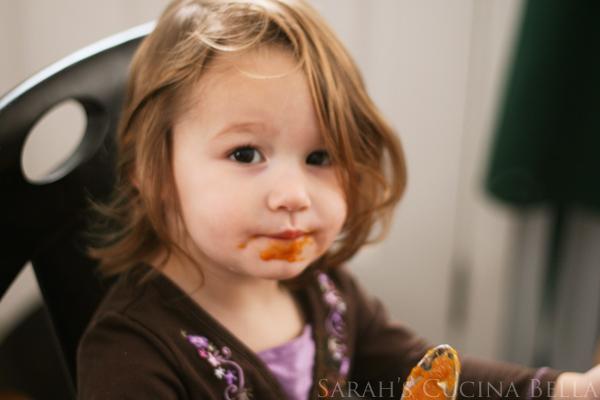 Paige Eating Butternut Squash Soup