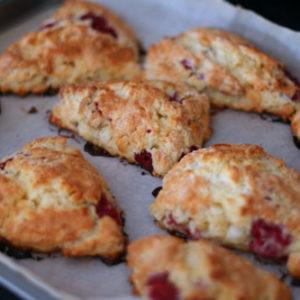 Raspberry White Chocolate Scones Recipe