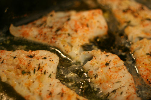 Fabulous fish baked lemon herb cod recipe sarah 39 s for How to cook cod fish