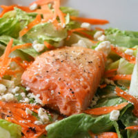 Easy Green Salad with Roasted Salmon Recipe