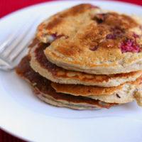 Lightened Up Raspberry Applesauce Pancakes