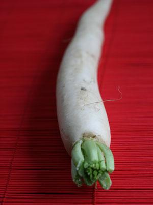 A daikon radish