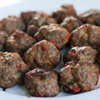 Sundried Tomato and Red Pepper Meatballs