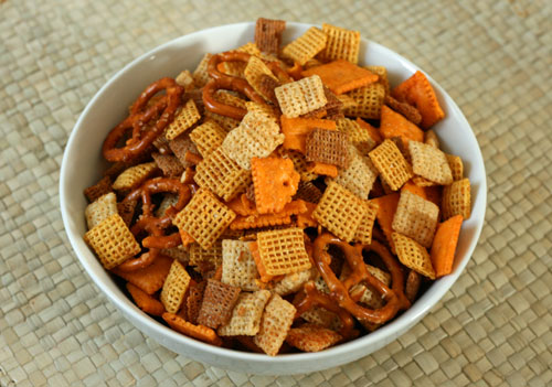 Brown Butter Garlic Snack Mix Recipe