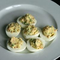 Prosciutto and Arugula Deviled Eggs Recipe