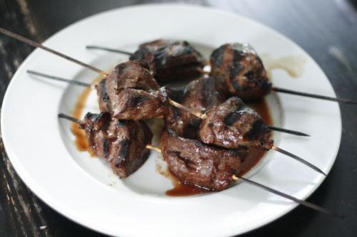 Grilled Marinated Steak Skewers Recipe