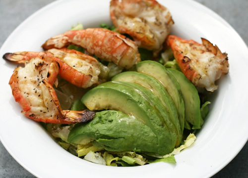 Grilled Shrimp and Avocado Salad with Asian Vinaigrette Recipe