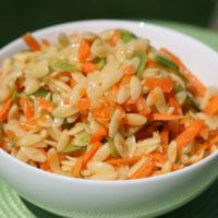 Sesame Orzo Salad Recipe