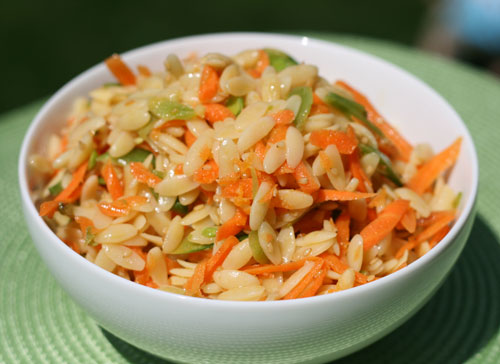 Sesame Orzo Salad Recipe