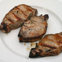 Pork Chops, Marinated and on the Grill