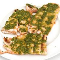 Grilled Pesto-Topped Salmon Recipe