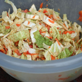 Asian Napa Cabbage Slaw with Peanut Sauce Recipe