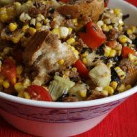 Balsamic Tomato, Corn and Cucumber Panzanella Recipe