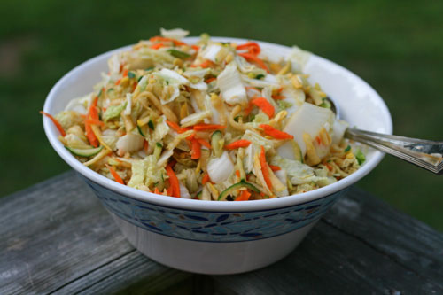 Sesame Soy Napa Cabbage Slaw Recipe