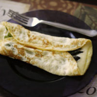 Swiss and Roasted Asparagus Omelet for One
