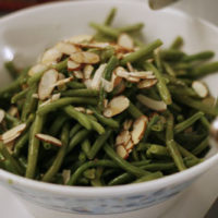 Green Beans with Browned Butter and Almonds