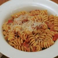 Tomato, Bacon and Cream Pasta