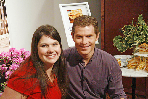 Sarah Walker Caron of Sarah's Cucina Bella and Bobby Flay of Food Network