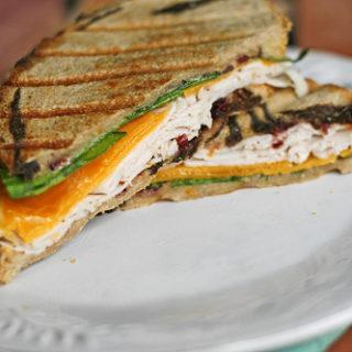 The New Englander Panini with Easy Cranberry Orange Mayo