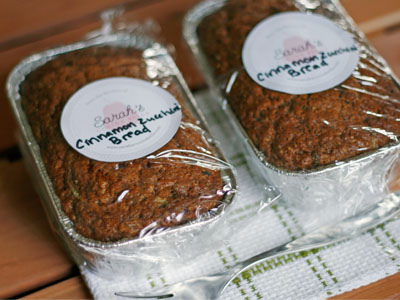 Perfect Teacher Gift Cinnamon Zucchini Bread Mini Loaves
