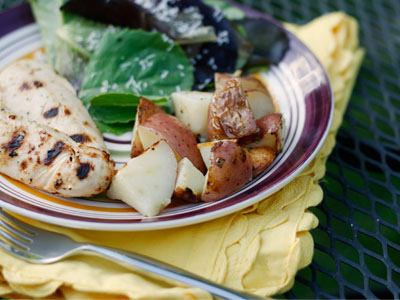 Foil Packet Herbed Grilled Red Potatoes