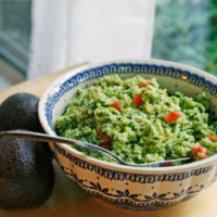 Avocado-Basil Rice with Tomatoes
