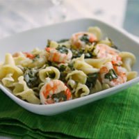Summer Pasta with Shrimp and Kale