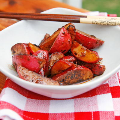 Recipe for Soy Ginger Sauteed Radishes