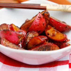 Soy-Ginger Sauteed Radishes