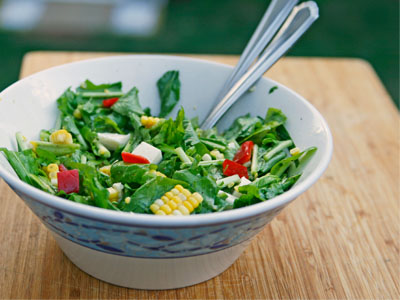 Arugula, Corn and Pepper Salad: An Easy Late Summer Salad